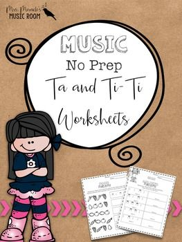 Looking for a fun way to practice ta and ti-ti, or quarter note and eighth notes? This worksheet set is perfect for centers, large group work, supplemental work, sub plans, and more!