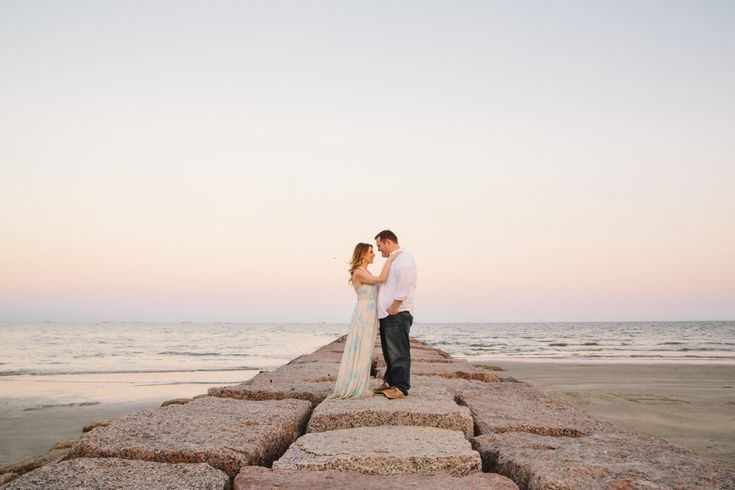galveston beach engagement photos