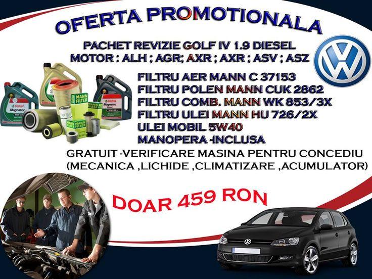 Oferta Service Auto Almira - Revizie Golf IV 1,9 Diesel 459 Ron