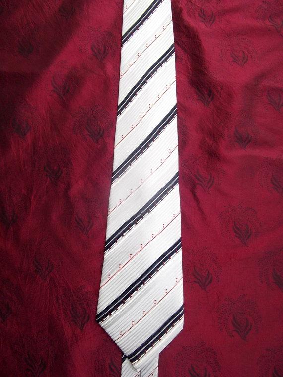 Lanvin vintage  silk tie striped by CHEZELVIRE on Etsy, $15.00