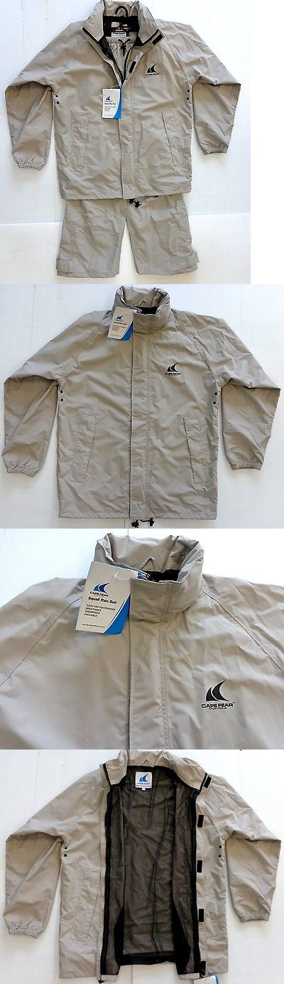 Jacket and Pants Sets 179981: Cape Fear Squall Rain Suit Lg Waterproof Breathable Fishing Boat Jacketandpants BUY IT NOW ONLY: $129.99