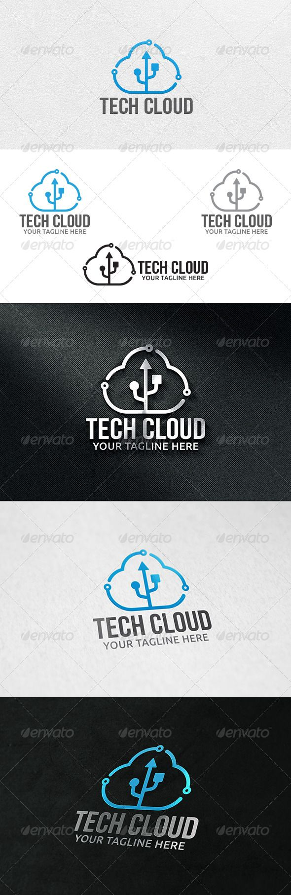 Cloud Tech - Logo Template - Symbols Logo Templates