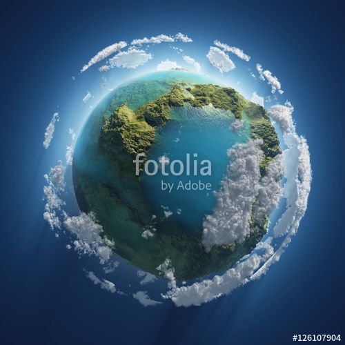 small Earth in the space - Photobank
