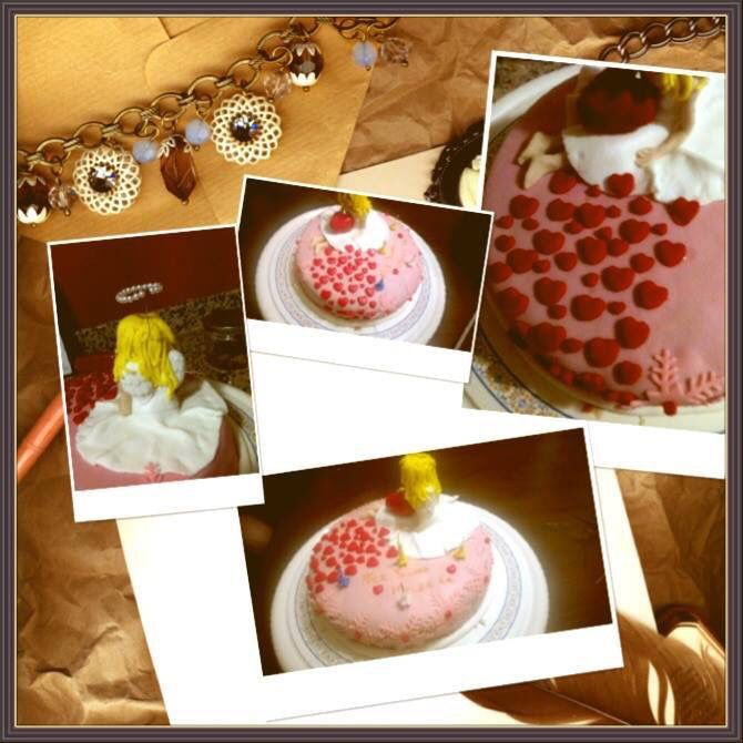 Melek kız pasta  #birthdaycake #angelgirlcake