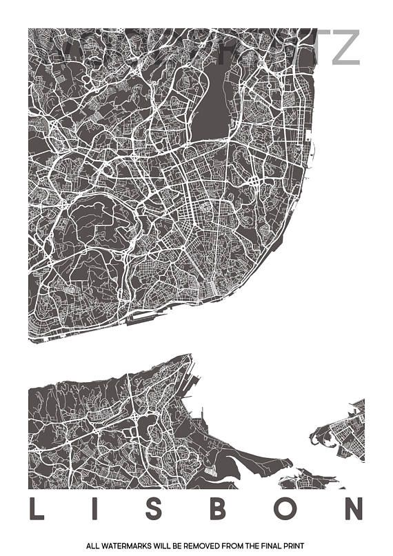Best Lisbon Map Ideas On Pinterest - Portugal map to print