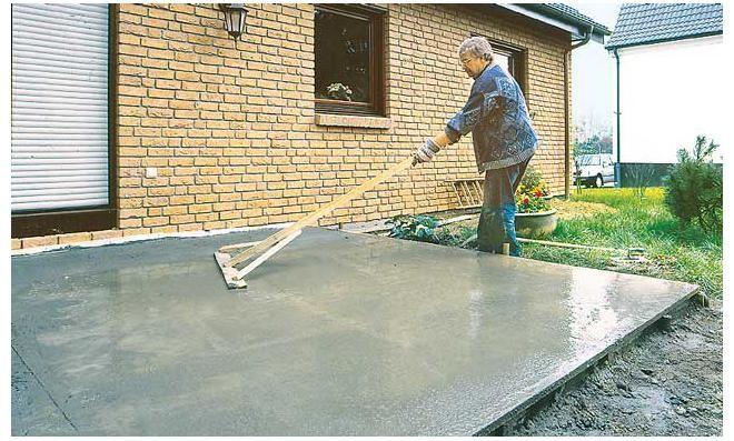 Bodenplatte betonieren: Schritt 8 von 8