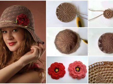 Hanımlar İçin Örgü Hasır Şapka Yapımı – Resimlerle Panama Şapkası Yapımı