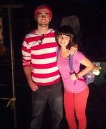 Coolest couples Halloween costumes - Dora found Waldo Homemade Couple's Costume