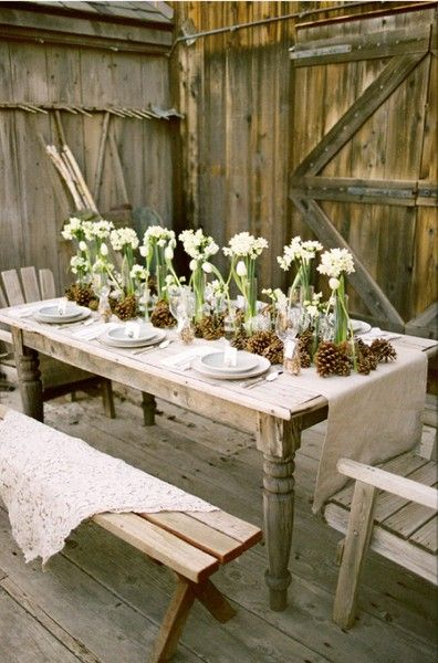 Pretty, nature-inspired, EASY table decorations.