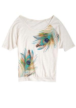 Delias Graphic Dolman Tee: Tees 15, Peacock Feathers, Graphics Tees, Featherless Graphics, Dolman Tees, Graphics Dolman, Closet, Cute Clothing, Delias Graphics