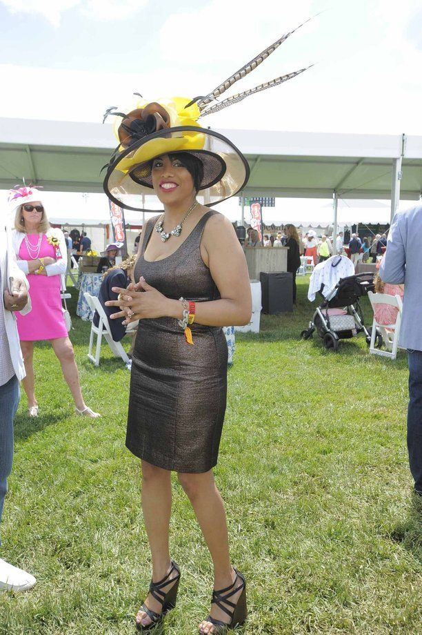 Mayor Stephanie Rawlings-Blake sported a wide-brim hat at Preakness 2014.