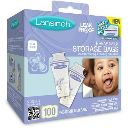 Lansinoh - Breast Milk Storage Bags // BEST bags to store your milk in! Highly recommend pumping and freezing in the early days when your milk is flowing for dayzzz!! Lays flat to freeze, thick bags, tight seal. Awesome!