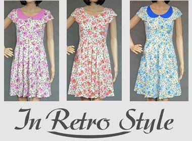 RETRO Elegancka sukienka w kwiatki kwiaty 42 XL