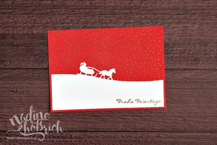 Weihnachtskarte mit Stampin' Up! | nadinehoessrich.de