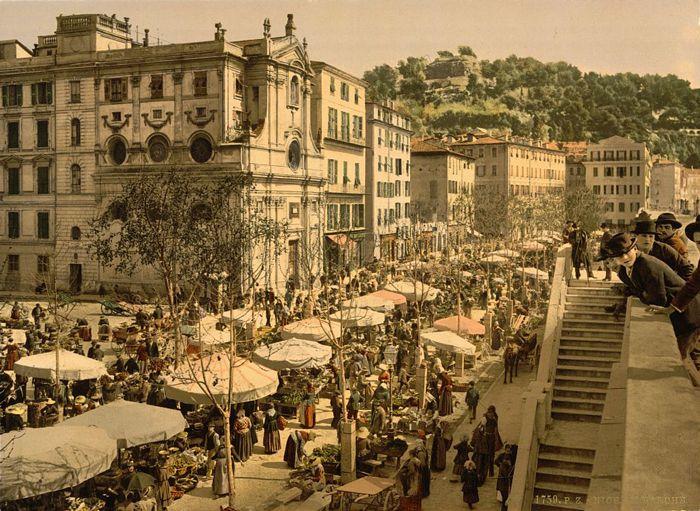 1890 - Nice. Le marché
