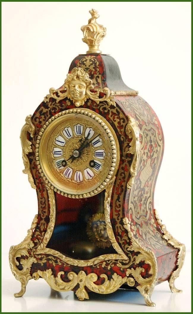 Antiguo reloj frances Boulle ca.1870                              …