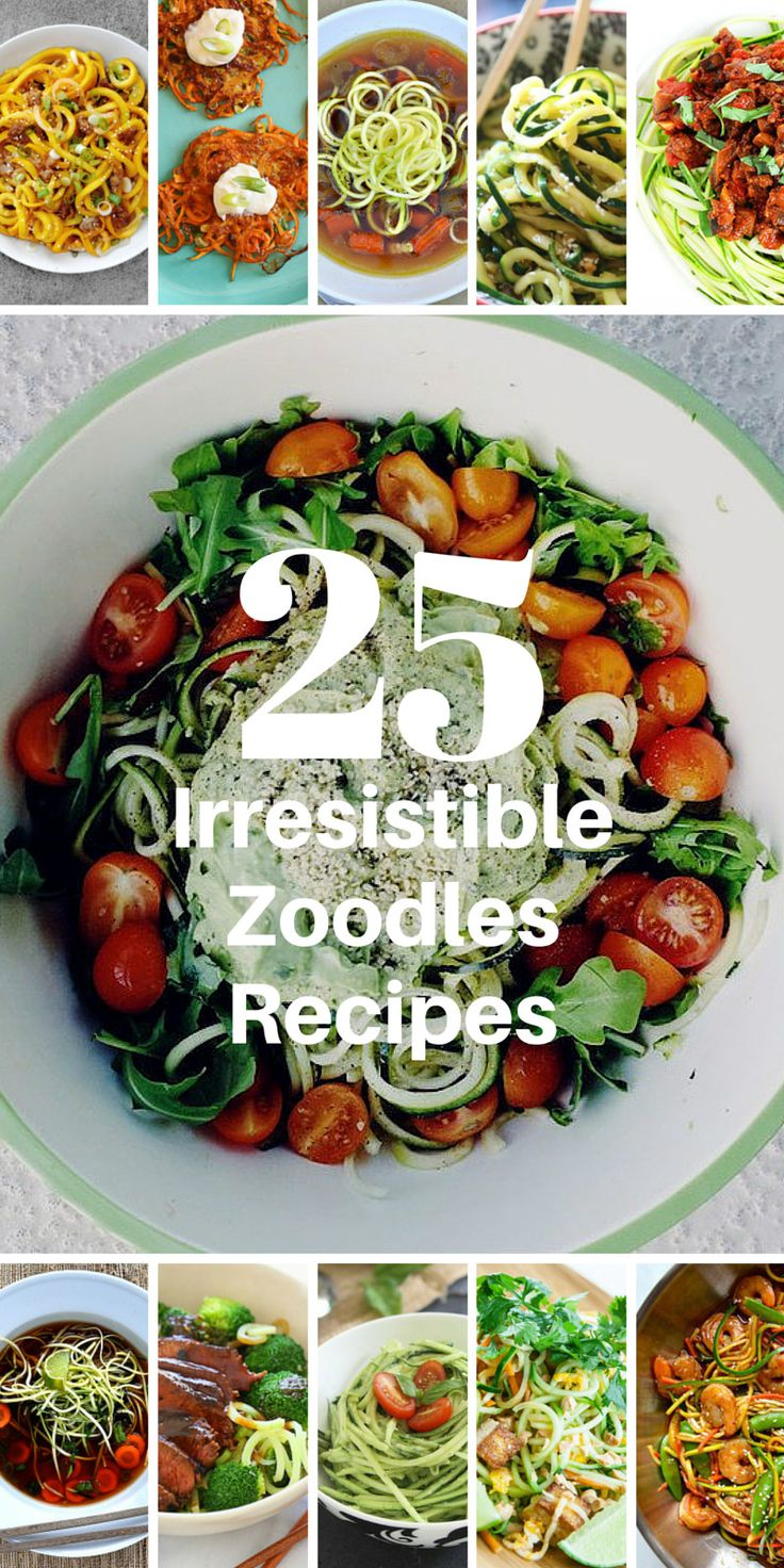 25 Irresistible Zoodles Recipes • Foodie Fitness