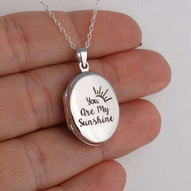 FashionJunkie4Life - Engraved You are My Sunshine Oval Locket Necklace - Sterling Silver, $32.99 (http://www.fashionjunkie4life.com/engraved-you-are-my-sunshine-oval-locket-necklace-sterling-silver/)