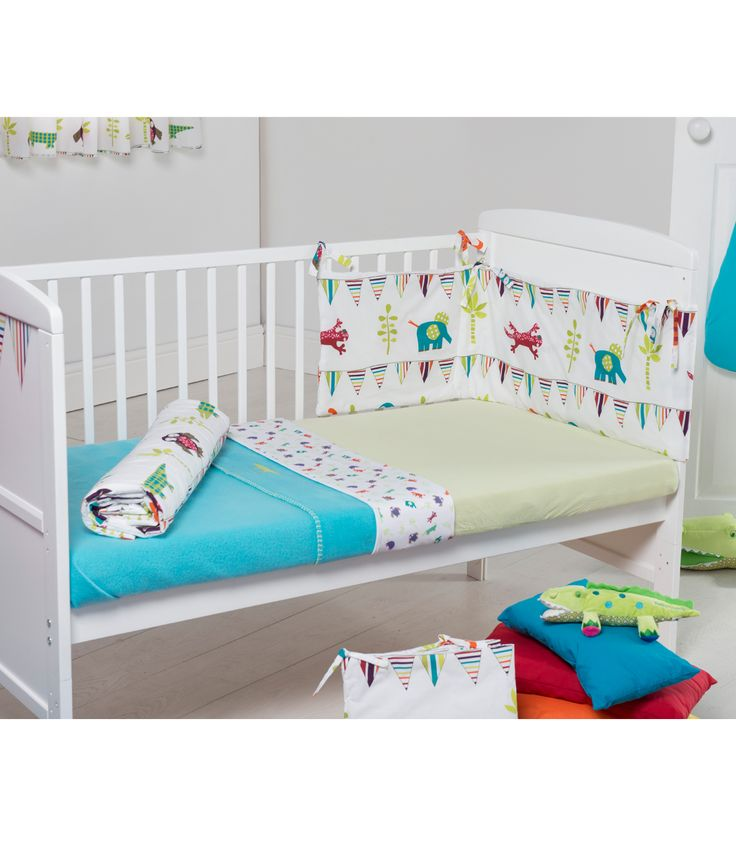 Buy your Funky Friends 5 Piece Bedding Set - Blue from Kiddicare Bedding Sets| Online baby shop | Nursery Equipment