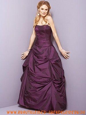 2012 Lila maßgeschneidertes Cocktailkleid aus Taft Herzausschnitt
