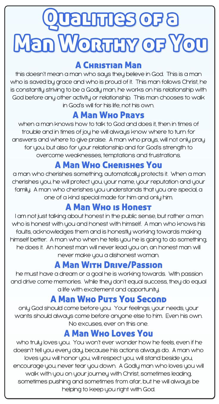 Qualities of a Godly Man