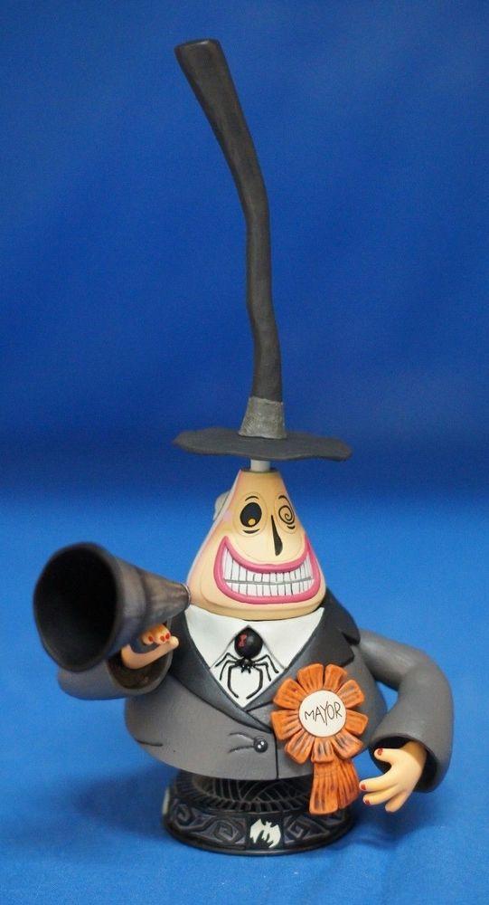 """Nightmare Before Christmas Mayor Mini Bust Up 8"""" Plastic Figurine Series 1 NIB #Figurines"""