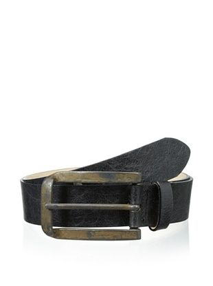 55% OFF Streets Ahead Men's Long Buckle Belt (Black)