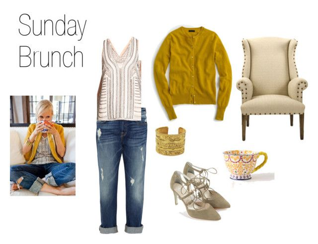 Sunday Brunch Inspiration by sgaffney on Polyvore featuring J.Crew, Storee, 7 For All Mankind, Boden and Chanel: