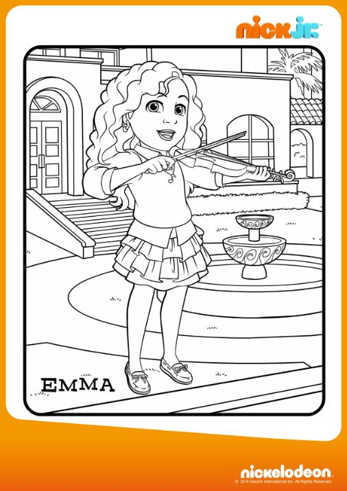 Colora Emma Disegna Con Dora Friends Into The City Su Nick Jr