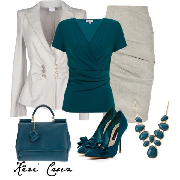 Polyvore pencil skirt dresses for workplace | ... blazers and La Petite S***** skirts. Browse and shop related looks