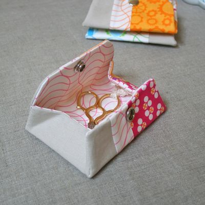 Cute little origami pouch with snap for organizing things
