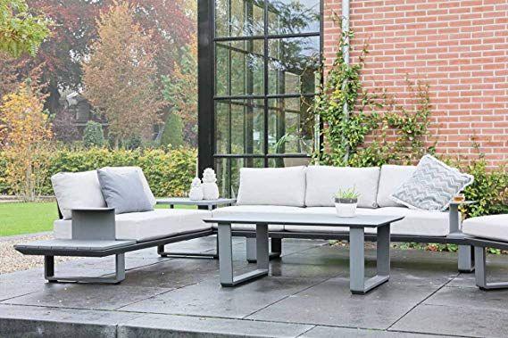 Lifestyle4living Gartenlounge Aus Aluminium In Anthrazit Loungegarnitur Mit Sitzecke Inkl 10 Kissen 3 Teiliges Lounge Mobel Garten Lounge Garten Lounge Set