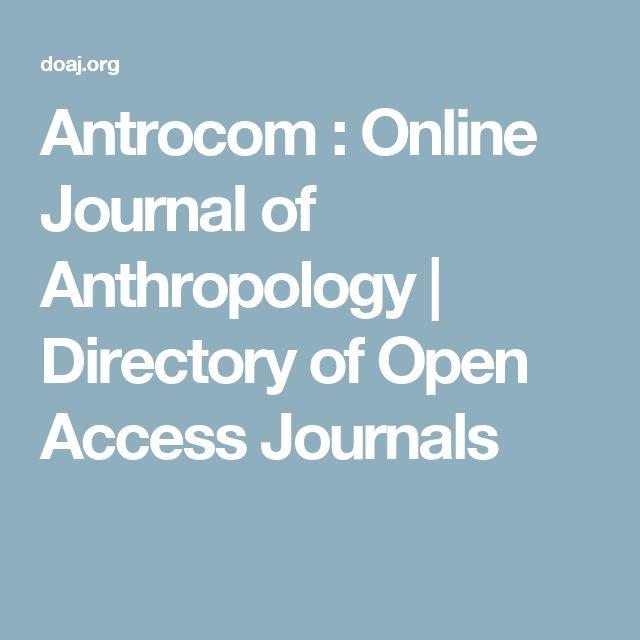 Antrocom : Online Journal of Anthropology | Directory of Open Access Journals
