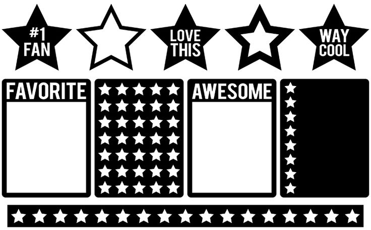 Free Cutting File: Star Journaling Cards #Silhouette #CutFile