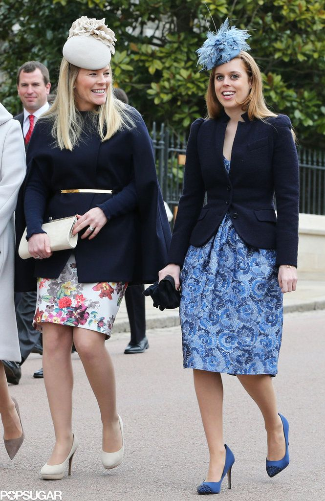 Autumn Phillips and Princess Beatrice showed off their fashion sense on Easter Sunday. See more celebrity pictures when you click through.
