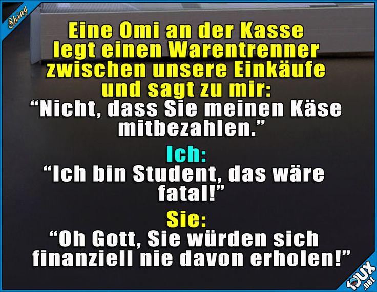 Omi weiß bescheid! #Student #studieren #Studentenleben #Studentlife #Humor #lustig #Studium #sowahr #Statussprüche