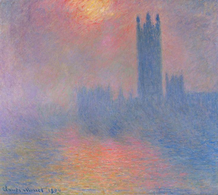 Londres, le Parlement. Trouée de soleil... | Claude Monet