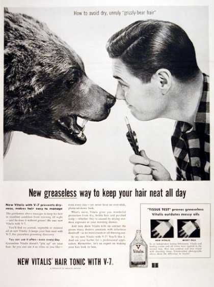 Vitalis Hair Tonic Ad (1955)