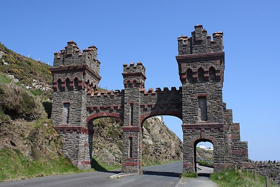 The old toll gate, Marine Drive, Douglas , Isle Of Man. One scorching week spent in the Isle of Man.....rock on!