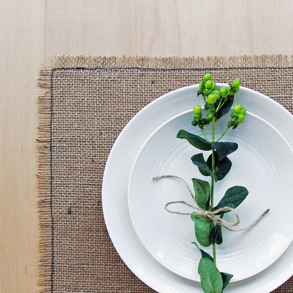 Simple. Natural. Rustic. Burlap Placemats // www.DappleDesignShop.etsy.com