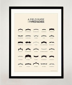 A Field Guide to Typestaches Volume 1 Poster by Old Tomfoolery eclectic-prints-and-posters