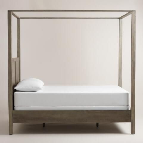 One Of My Favorite Discoveries At WorldMarket Gray Marlon Queen Canopy Bed