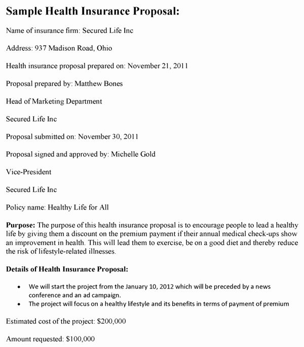 Commercial Insurance Proposal Template In 2020 Proposal