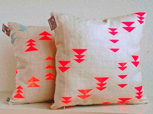 Appetite Home Linen Pillow with Neon Alpine Print - Neon Home Decor - Redbook