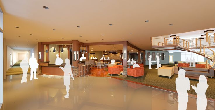 Proposed Lobby Remodel For Red Lion Colonial Hotel In Helena Mt Designed By Elisa Poole