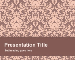 Floral Pattern PowerPoint Template is a simple and basic PowerPoint template with floral pattern design in the master slide that you can download to decorate your PowerPoint presentations