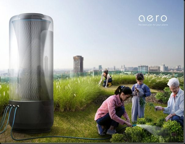 Future technology Futuristic AERO Water Harvester for The Year of 2030-Design Concepts for Urban Nature in the future