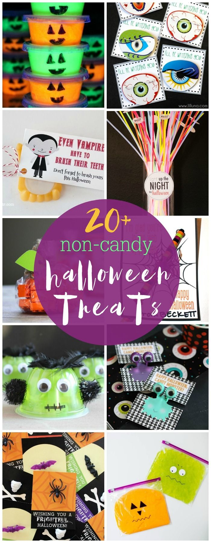 she has at least 3 of these with 20 ideas each love this noncandy halloween treats that you can pass out this year or use as halloween party favors