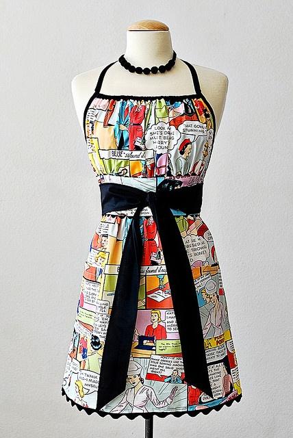 Comic strip apron