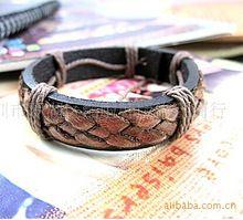 Винтажный стиль ручной работы веревку корова кожаный браслет и браслет для женщин мужчин elegent конопля породненные бижутерии оптовая продажа NSL-62(China (Mainland))